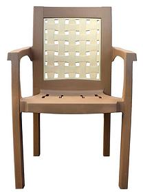 Кресло пластиковое Хризантема Бежевый