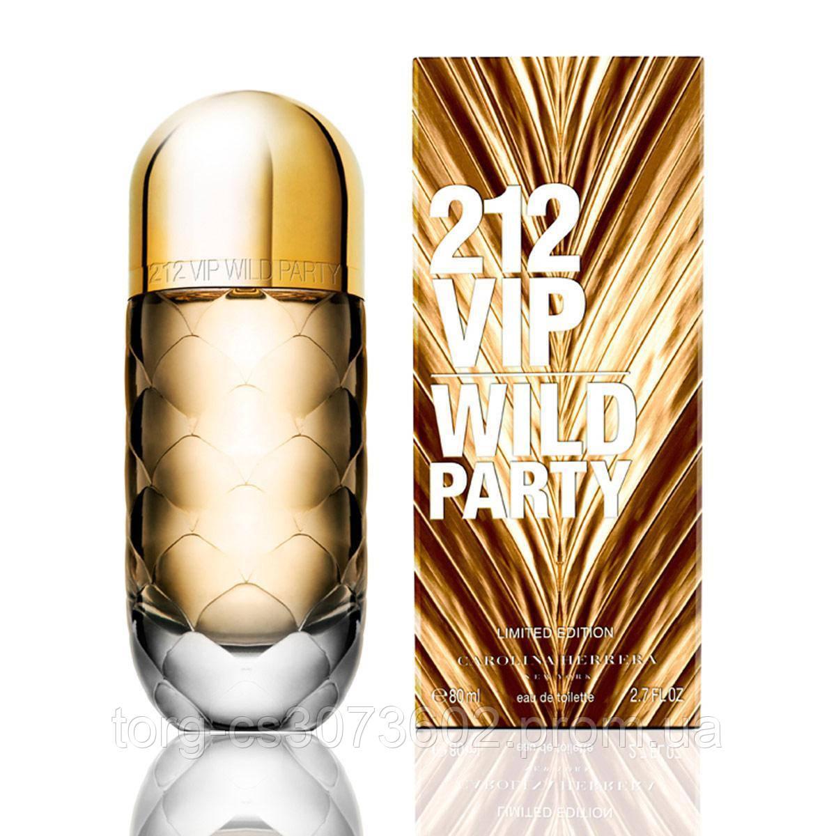 Carolina Herrera 212 VIP Wild Party, женская туалетная вода 80 мл.