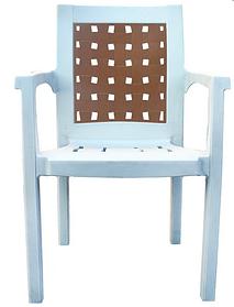 Кресло пластиковое Хризантема Белый