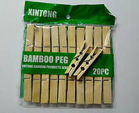 Прищепки Деревянные Бамбуковые, набор 20шт.