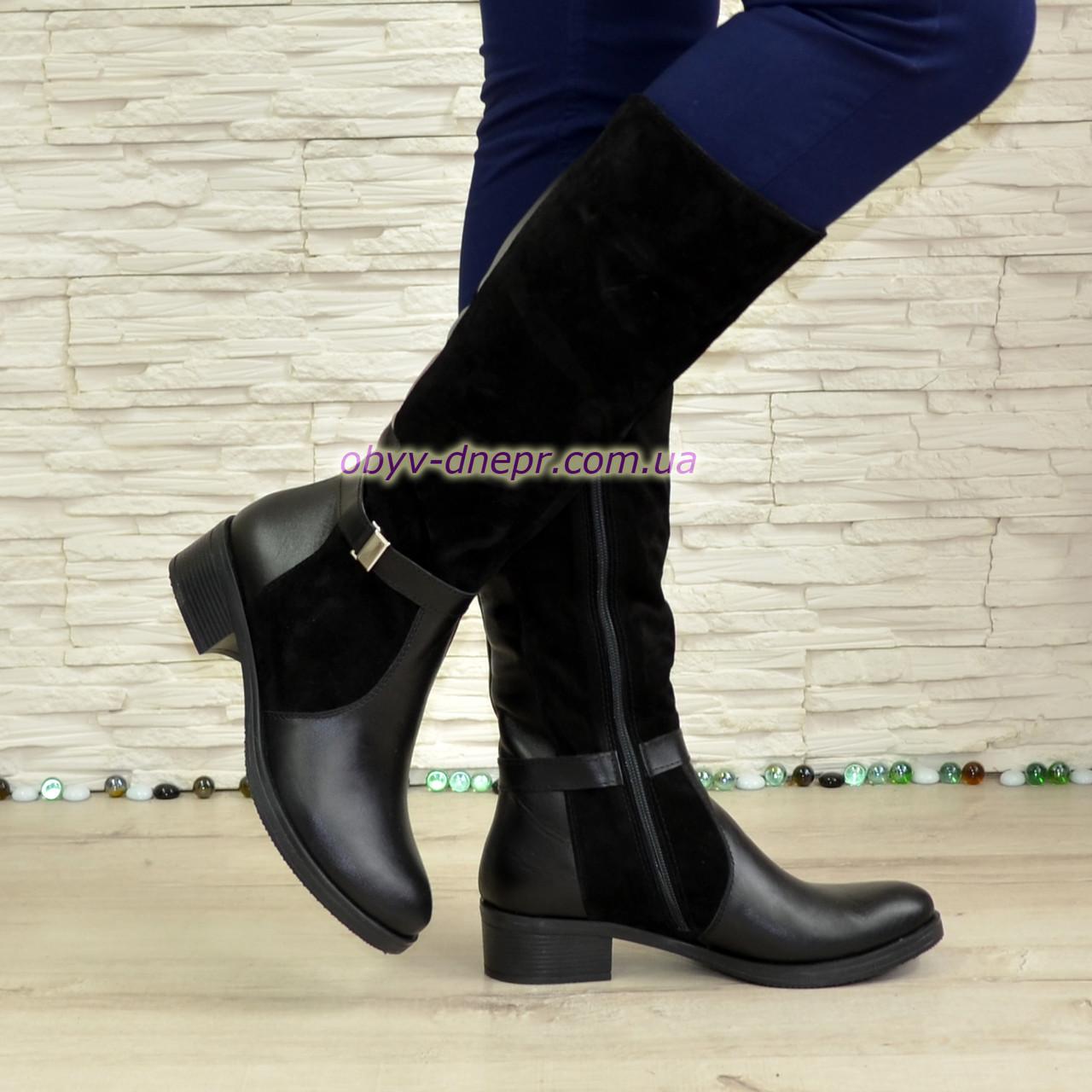 Женские зимние сапоги на невысоком каблуке. В наличии 39, 40 размеры