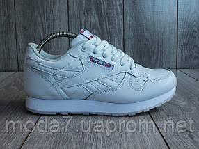 Кросівки жіночі білі Reebok Classic репліка, фото 2