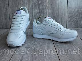 Кроссовки женские белые Reebok Classic реплика, фото 3