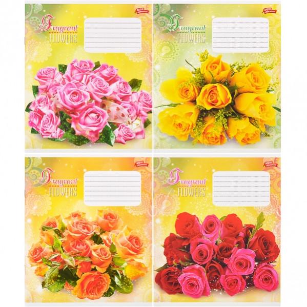 Тетрадь цветная 18 листов, линия «Ароматные цветы»           20 штук          2584л