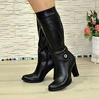 Женские кожаные зимние сапоги на высоком каблуке. В наличии 40 размеры