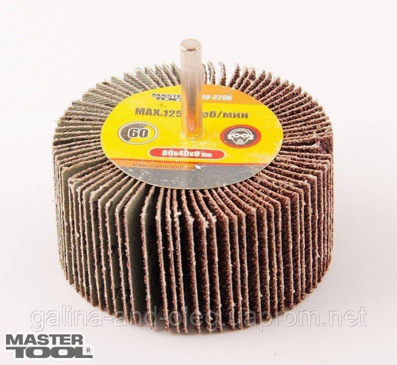 Круг лепестковый в оправке Mastertool - 80 х 30 мм, Р40