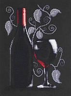 """Набор для вышивания крестиком (натюрморт) """"Бутылка с вином"""""""