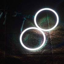 Светодиодные кольца RGB (ангельские глазки) 112-100 мм. COB  суперяркие ПАРА, фото 2
