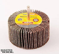 Круг лепестковый в оправке Mastertool - 80 х 30 мм, Р60