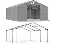 Торговая палатка - шатер 4 x 6 м водостойкая серая