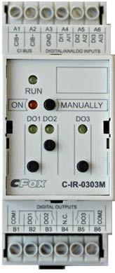 C-IR-0303M, CIB модуль комбинированных входов/выходов, 3x AI/DI, 2x RO-5A, 1x RO-16A