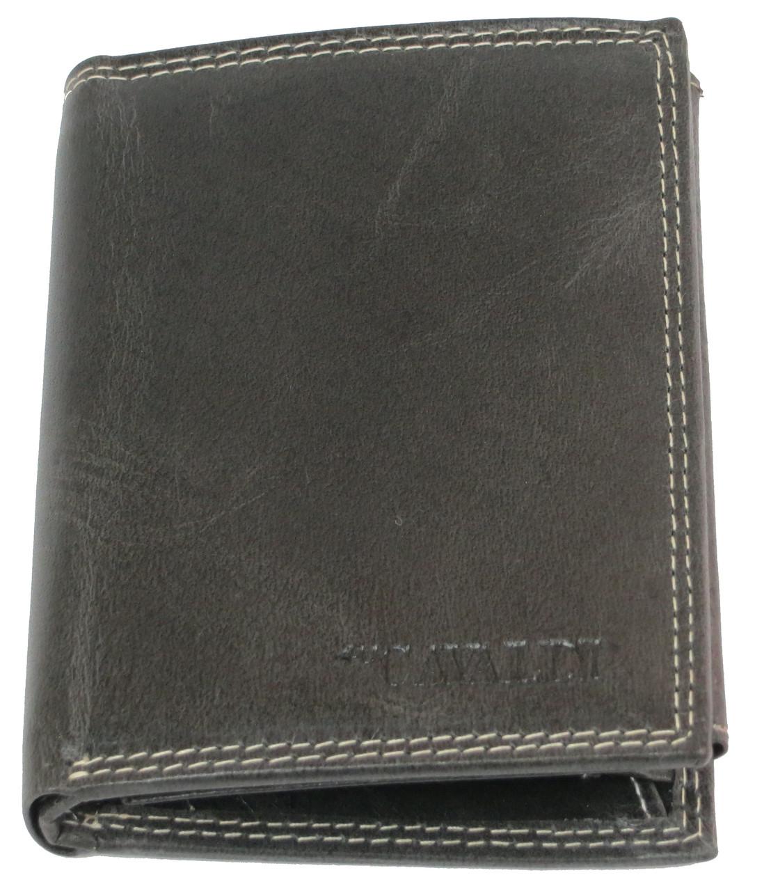 Мужское кожаное портмоне ALWAYS WILD SPRM034Z Black черный