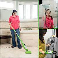 Паровая швабра H2O Mop X5 зеленая - влажная уборка дома, фото 1