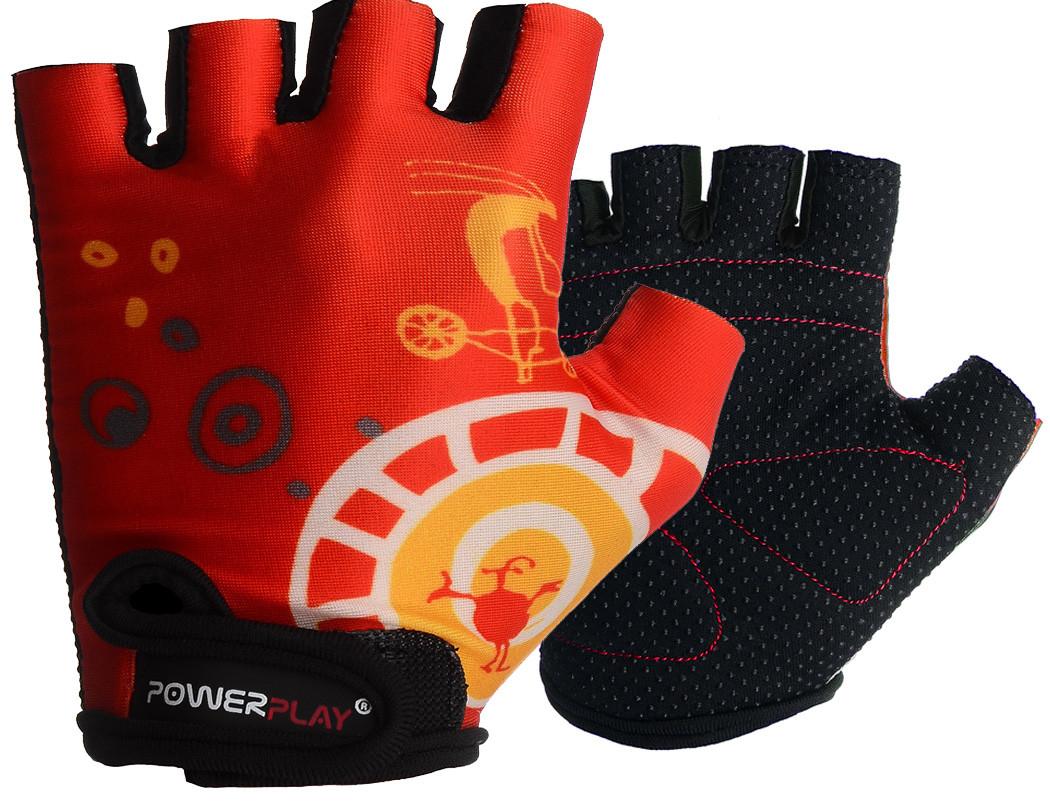 Велорукавички PowerPlay 001 B Червоні 2XS