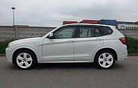 Дефлекторы окон, ветровики BMW X3 2010-  / Бмв Х3 Cobra, фото 1