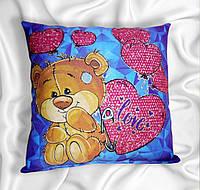 Сувенирная подушка, мишки Светяшка