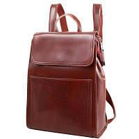Женский кожаный рюкзак Eterno, коричневый 5 л