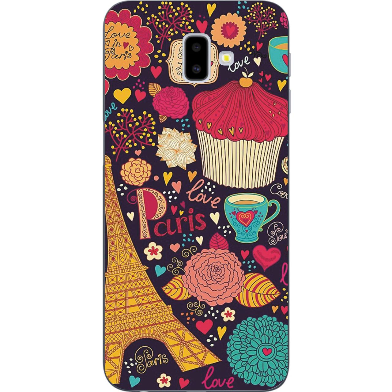 Чохол з картинкою (силікон) для Samsung Galaxy J6 Plus 2018 Париж і тістечко