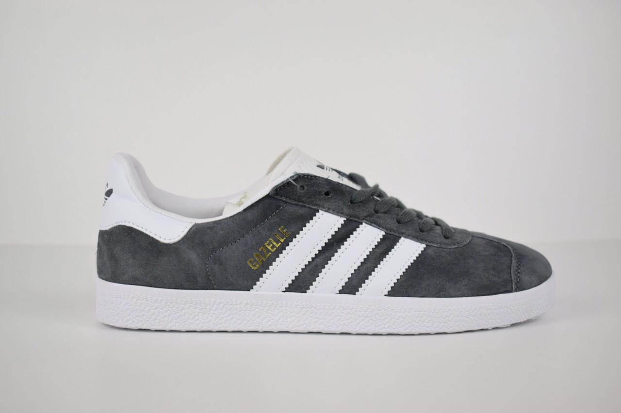 8a8e2aff Кроссовки Adidas Gazelle серые реплика+живые фото: продажа, цена в ...