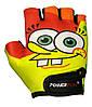 Велорукавички PowerPlay 5473 Sponge Bob жовто-помаранчеві S, фото 2