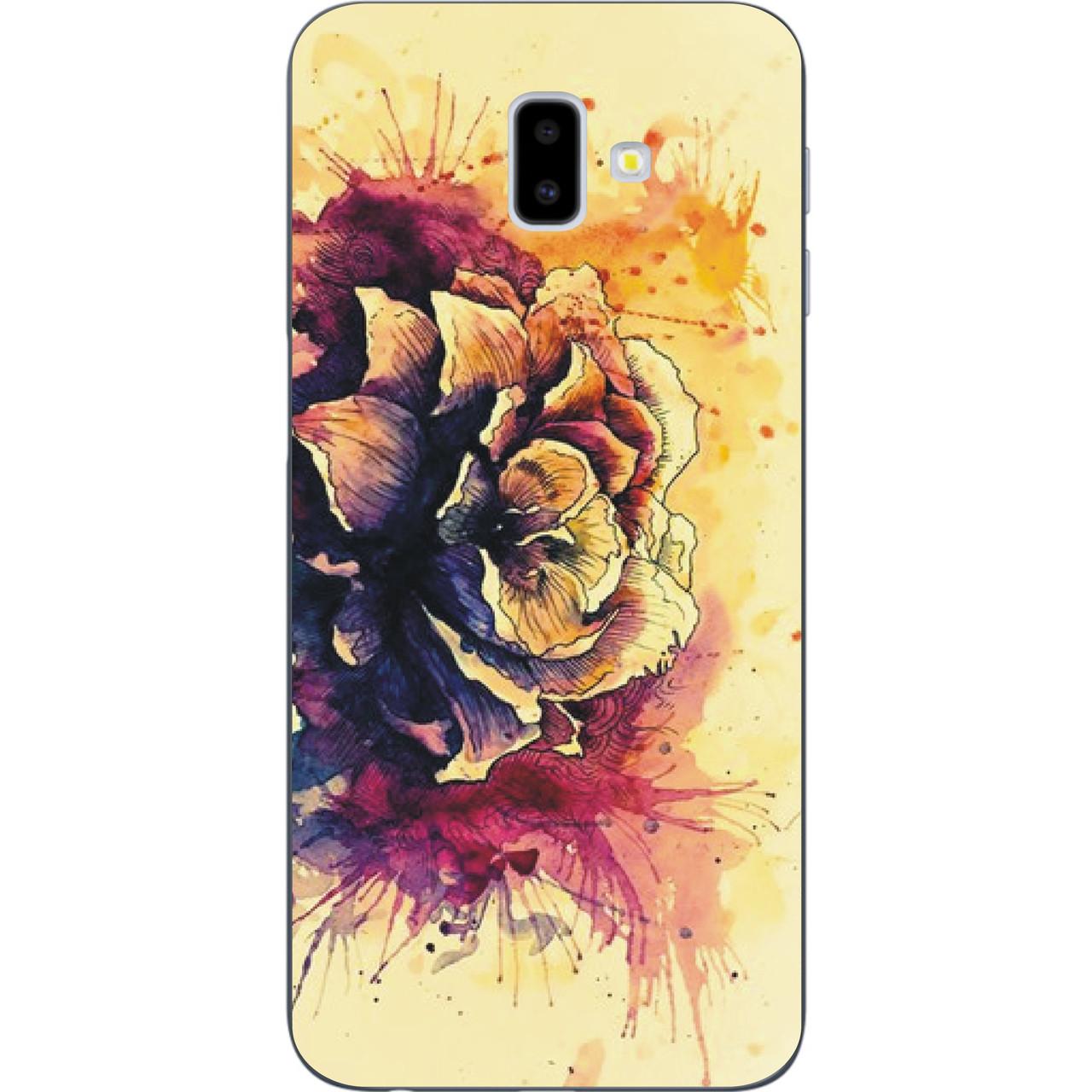 Чехол с картинкой (силикон) для Samsung Galaxy J6 Plus 2018 Цветок