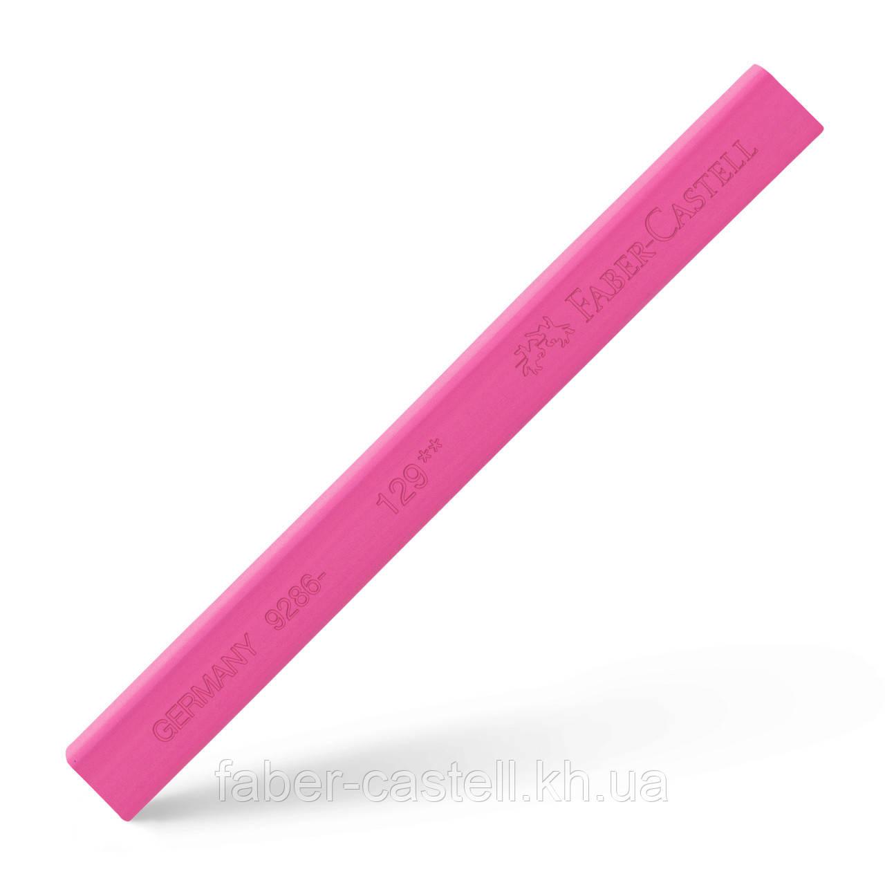 Пастель сухая / мелок Faber-Castell POLYCHROMOS цвет розовый №129 (pink madder lake), 128629