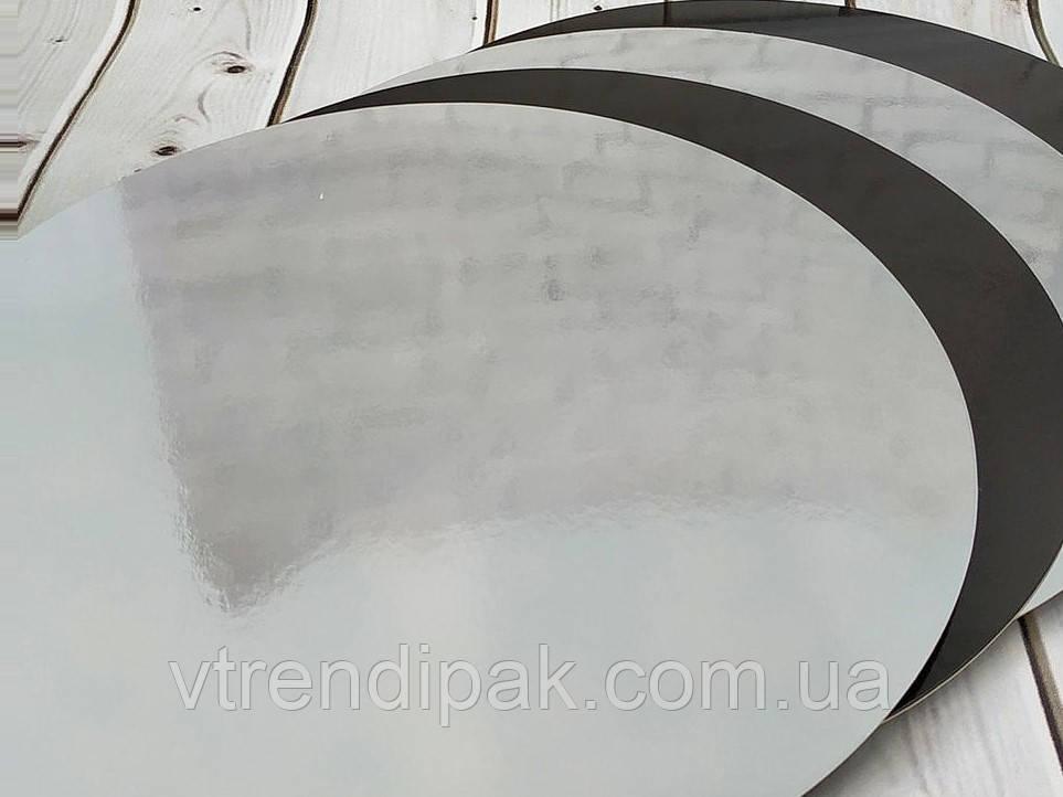 Підложка ламінована чорний-срібло 1.2 мм круг 295мм