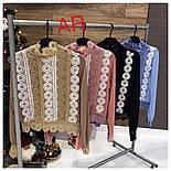 Женская блуза с набивным кружевом (4 цвета), фото 3