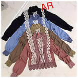 Женская блуза с набивным кружевом (4 цвета), фото 9