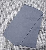 Шапка с шарфом детская  на мальчика зима серый меланж AGBO  (Польша) размер 48 50, фото 2