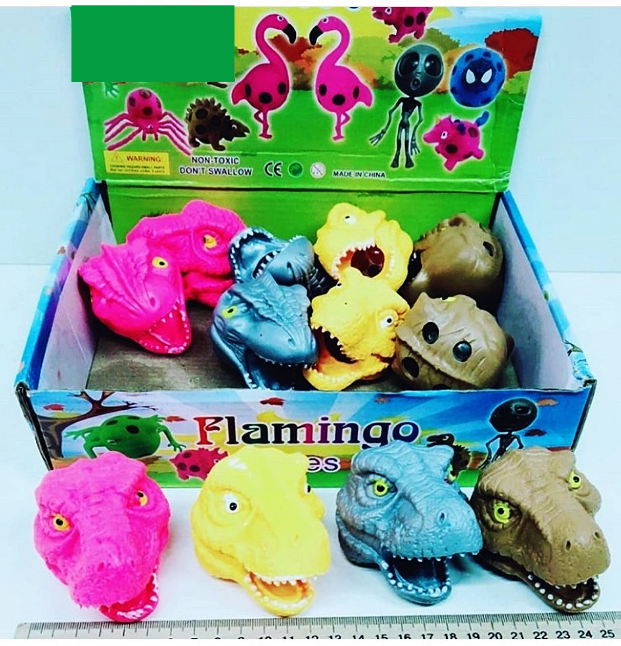 """Резиновая игрушка-антистресс""""Динозавр""""с орбизами"""