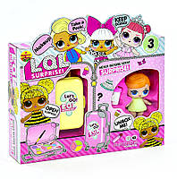 Набор Большая кукла ЛОЛ + чемодан с косметикой / аналог, фото 1