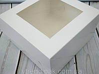 Коробка для десертів з мелованого картону з вікном 170*170*90