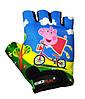 Велоперчатки детские PowerPlay 5473 Peppa Pig голубые 4XS, фото 2