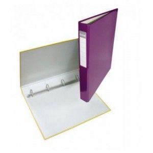 Папка 4 кольца А4 ІТЕМ057/04, 40мм, ламинированная, фиолетовая