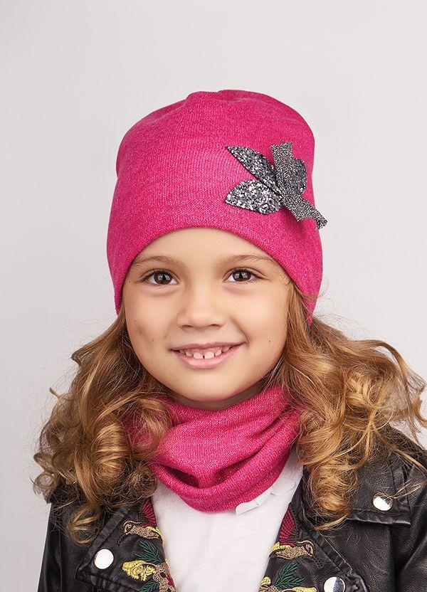 Детская шапка (набор) ЛИЛИАН для девочек оптом р48-50-52