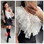 Женская блуза с воланами (4 цвета), фото 5