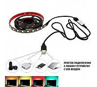 Светодиодная лента USB для подсветки телевизора, монитора 50 см Feron LS708 RGB