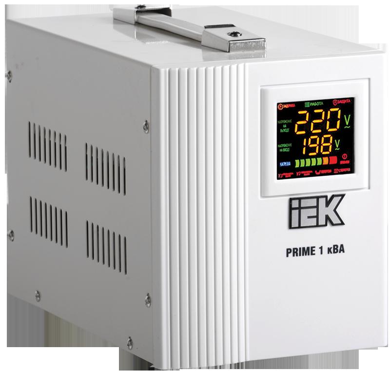 Стабилизатор напряжения Prime 1 кВА симисторный переносной, IEK