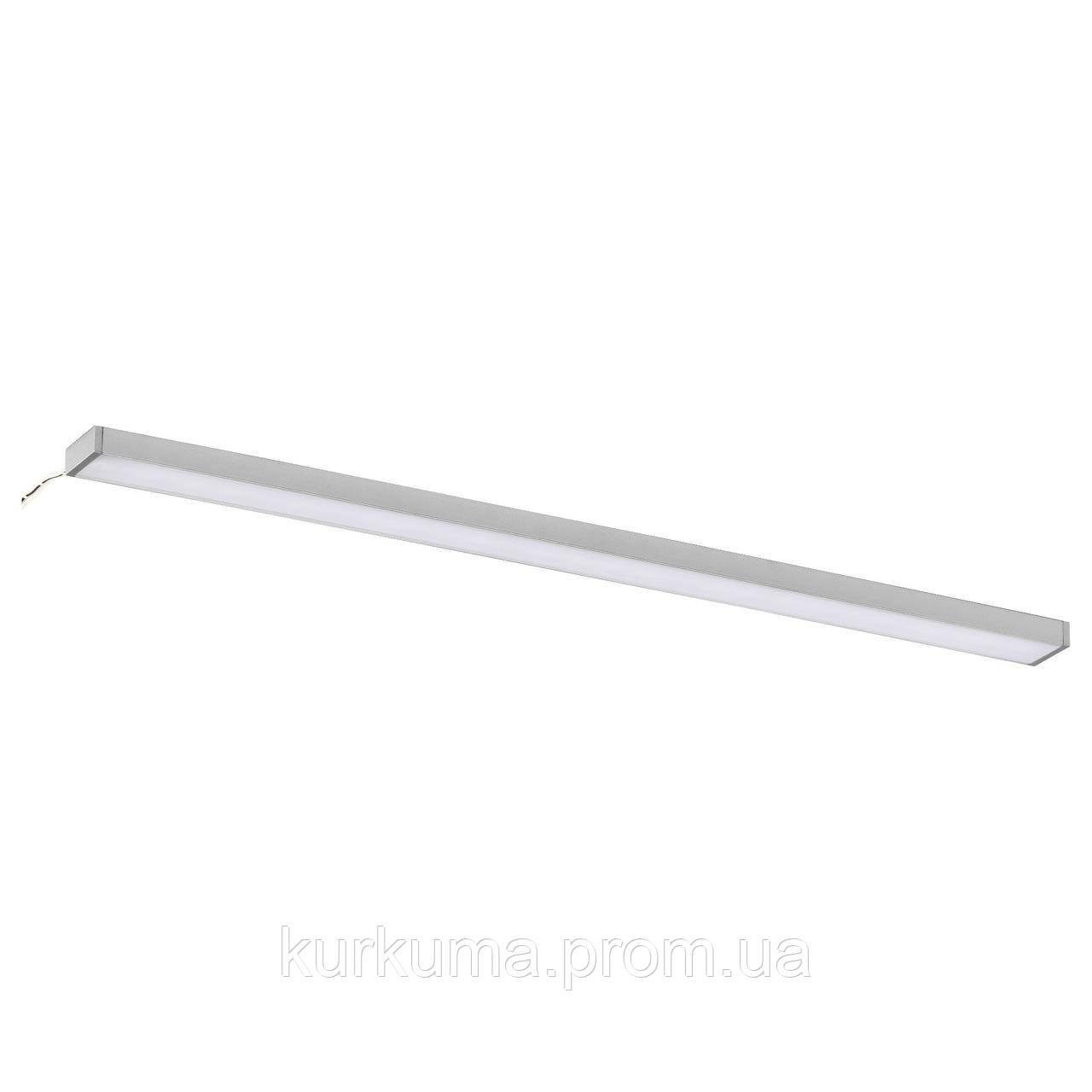 IKEA OMLOPP Светодиодное настольное освещение, серебро  (102.452.19)