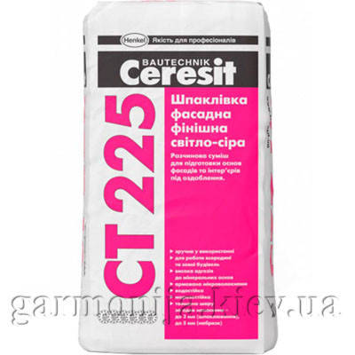 Шпаклевка Ceresit CT-225 цементная фасадная, 25 кг, фото 2