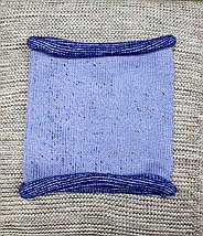 Шапка с хомутом детская  на мальчика зима синий меланж  Ambra (Польша) размер 48 50, фото 2
