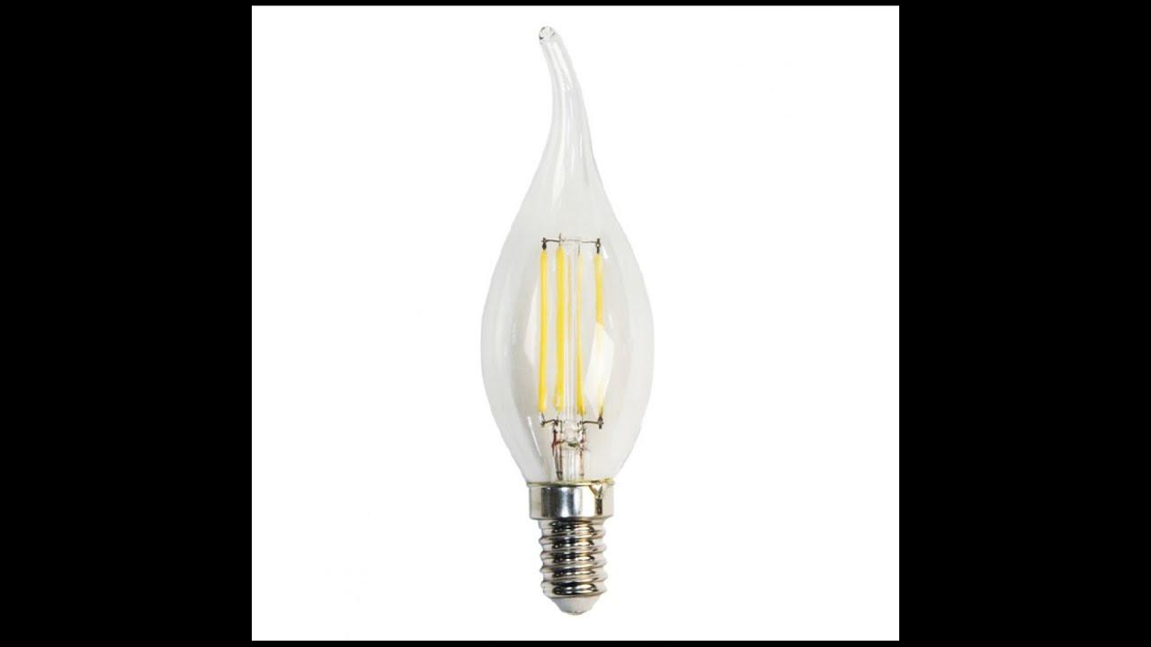 Filament LED лампа NEOMAX 4W E14 C37 (свеча на ветру) 4200К 400Lm