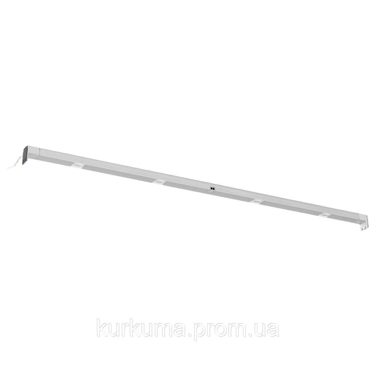 IKEA OMLOPP Светодиодная подсветка, серебро  (802.452.30)