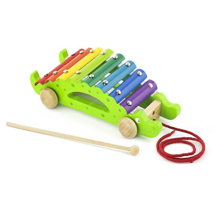 "Игрушка-каталка ""Крокодил"" Viga Toys 50342"