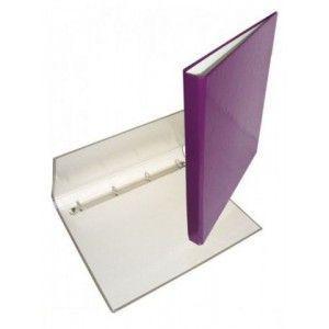 Папка 4 кольца А4 ІТЕМ357/04, 30мм, ламинированная, фиолетовая