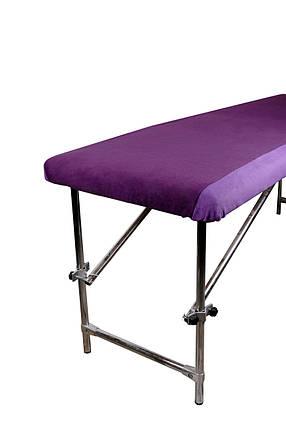 Чохол комбінований флісовий  100х220 см бузковий + фіолетовий , фото 2