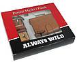 Набор мужской, кошелёк и ремень кожаный  Always Wild Buffalo (PSB-D1072-01-GG) Коричневый, фото 5