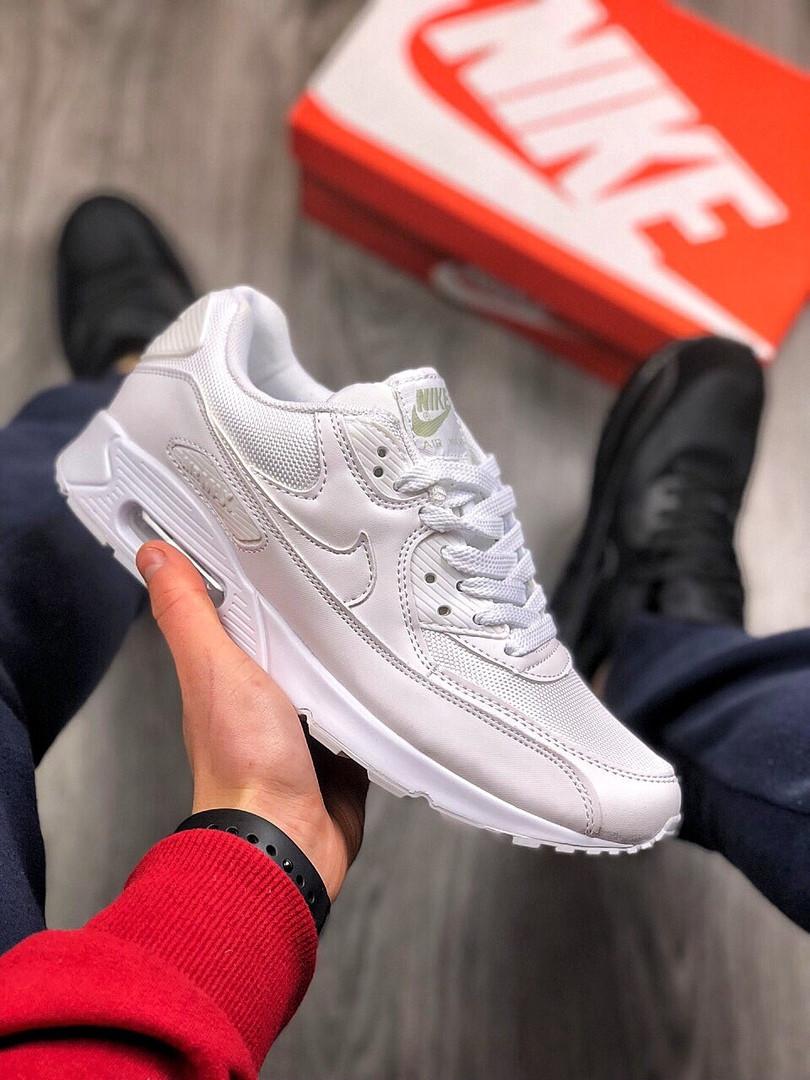 ce3197af Мужские кроссовки в стиле Nike Air Max 90 (white), Реплика ААА ...