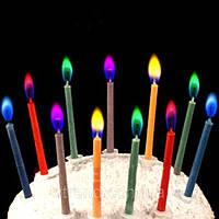 Набор свечей для торта с разноцветными огоньками
